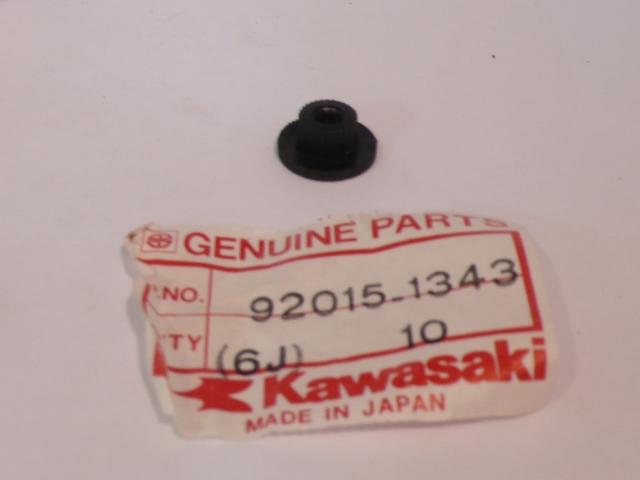 NOS KAWASAKI 92015-1343 COWLING NUT 5MM ZG1000 ZX750 EX500 KL650
