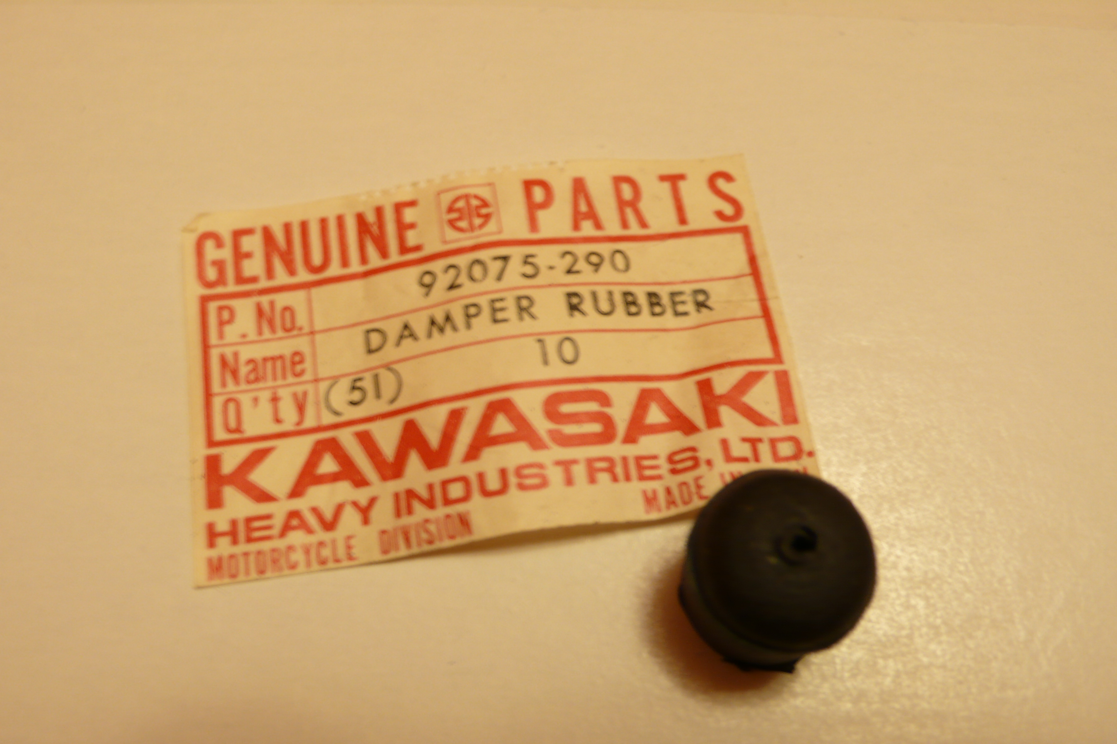 Vintage Kawasaki Online Store 1977 Kz200 Wiring Diagram Rear Fender Damper